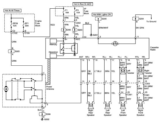 auto radio wiring diagram