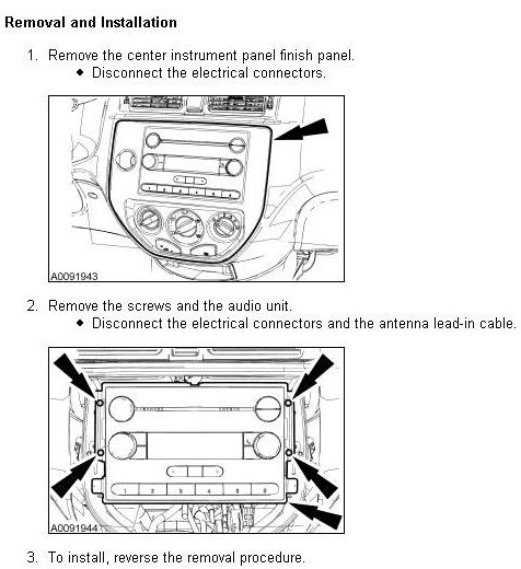 FORD Car Radio Stereo Audio Wiring Diagram Autoradio connector wire