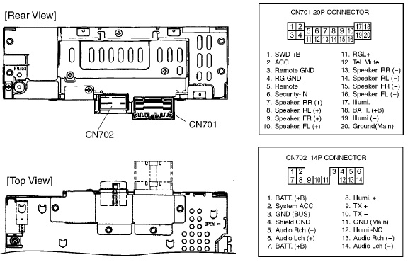 HONDA Car Radio Stereo Audio Wiring Diagram Autoradio connector wire