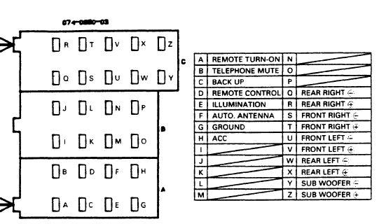CLARION Car Radio Stereo Audio Wiring Diagram Autoradio connector