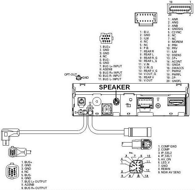 audio video cable wiring diagram