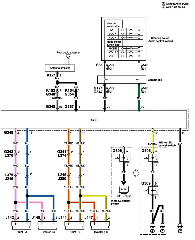 suzuki car stereo wiring diagram
