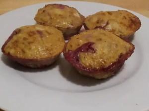 Gesunde Muffins angerichtet