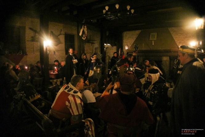 Einer der schönsten Räume der Bilstein wird traditionell als Taverne genutzt.