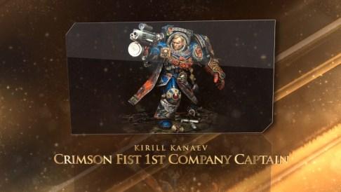 Beste Bemalung: Crimson Fist 1st Company Captain, bemalt von Kirill Kanaev.