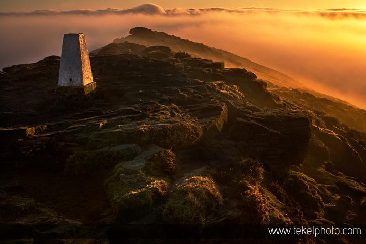 Win Hill morning mist , Peak District UK 2015