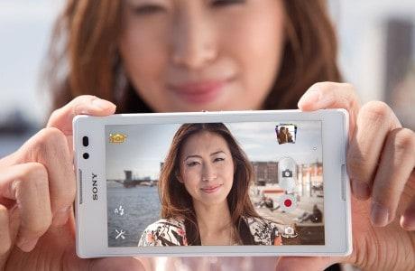 Função selfie com câmera traseira