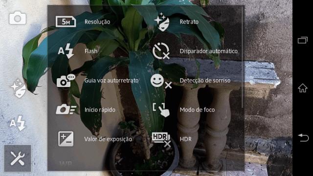 Xperia C  app camera