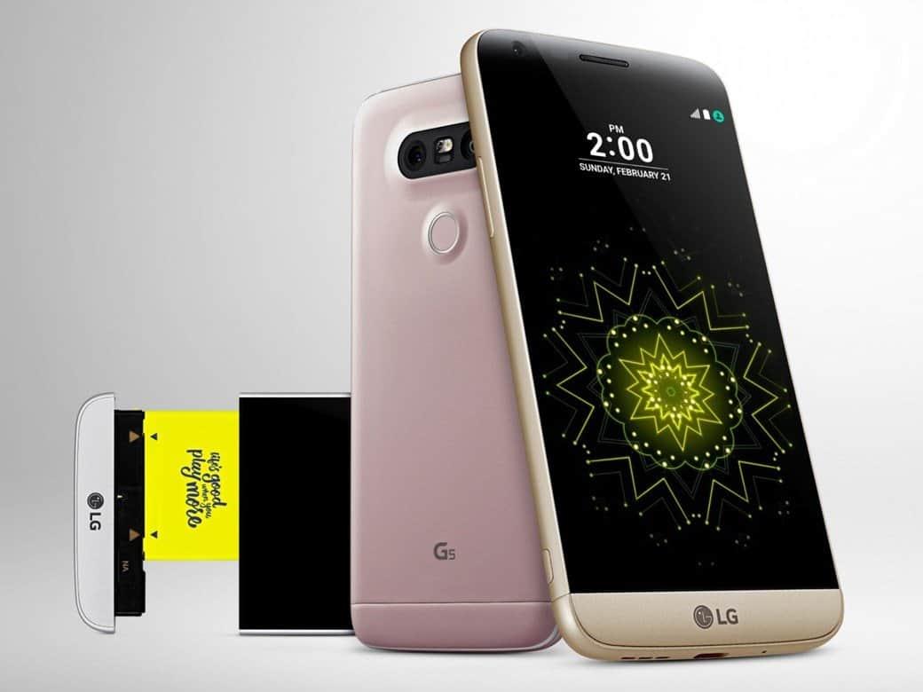 LG G5 no Brasil inferior