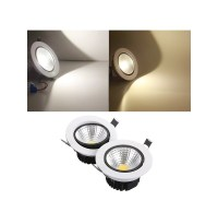15W Dimmable COB LED Recessed Ceiling Light Fixture Down ...