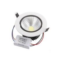 12W Non-dimmable COB LED Recessed Ceiling Light Fixture ...