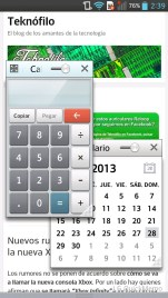 LG Optimus L9 - Qslide app Calculadora y Calendario