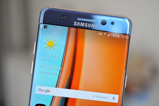 Analisis Samsung Galaxy Note 7 - Pantalla - 2