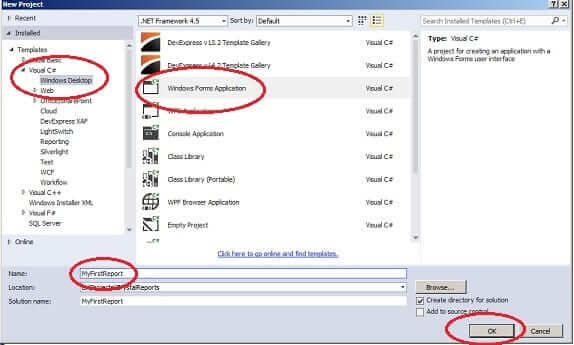 How to Create Crystal Report using Visual Studio