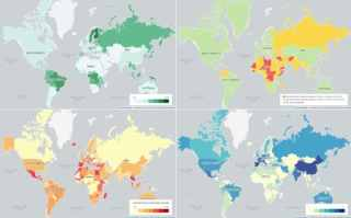The world accord to forest size, Foreign Office advice, reliance on tourism and World Heritage Sites
