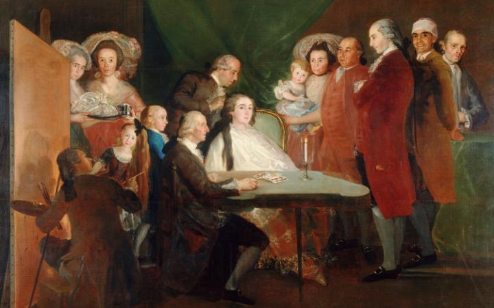 A család az Infante Don LUAS, 1783-1784