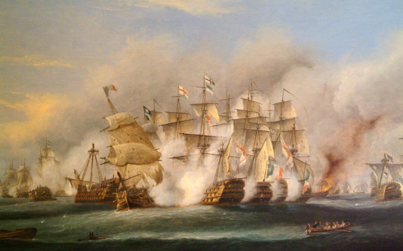 3d Money Wallpaper Lord Nelson Victorious At Cape Trafalgar