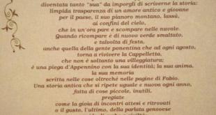 Cittadinanza onoraria a Fabio Saccomanno