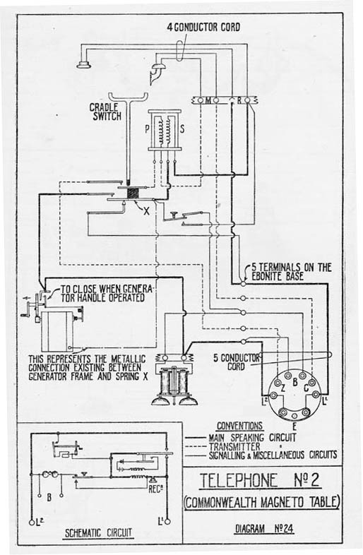 Old Telephone Wiring Diagrams Wiring Diagram