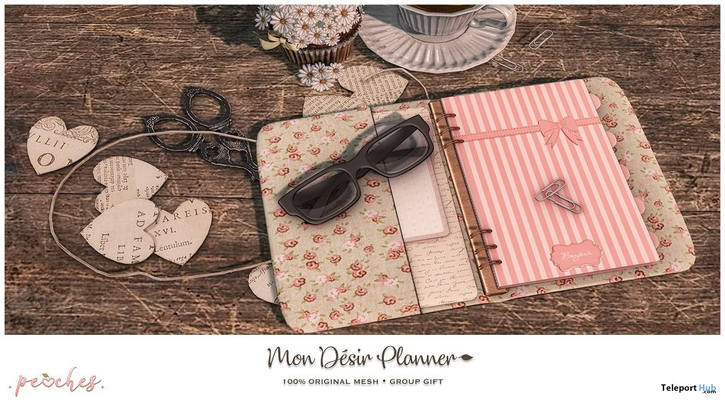 Mon Desir Planner April 2018 Subscriber Gift by peaches Teleport
