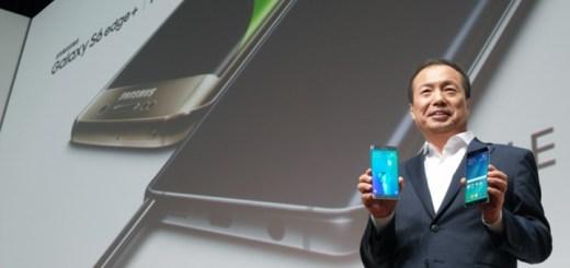 JK Shin, CEO y presidente de la división de IT & Mobile de Samsung Electronics en la presentación del Galaxy S6 edge+ y Galaxy Note5. Imagen: Samsung