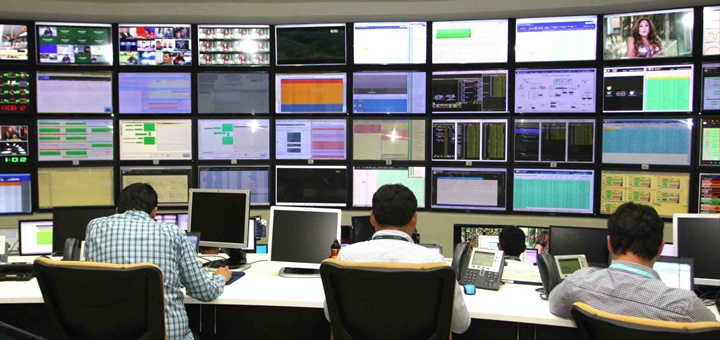Centro de gestión satelital en Lurín. Imagen: Telefónica