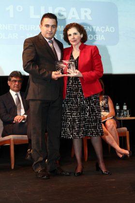 Eder Celloni, presidente da Master Tecnologia com Margarida Baptista, do BNDES.