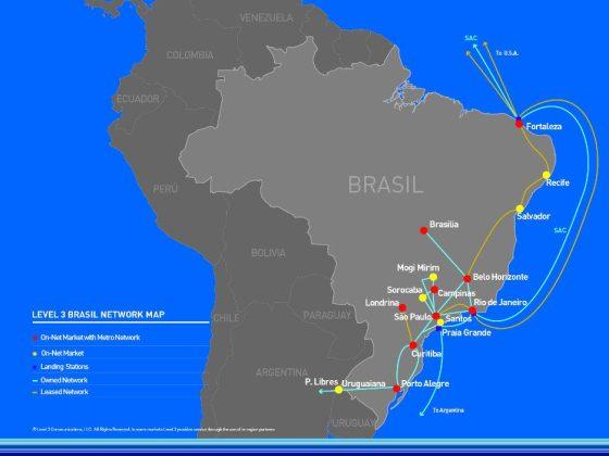 rede da level 3 no brasil divulgação