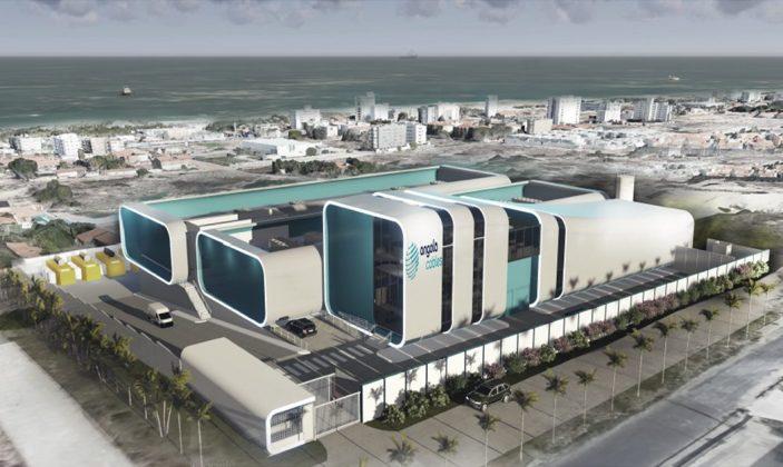A estação estação de cabos submarinos da Angola Cables também será um data center, situado na Praia do Futuro, em Fortaleza (CE) - (Imagem: divulgação)