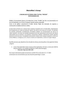 Comunicado Piquin Paraguay