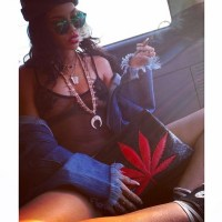 Rihanna smokes weed on Instagram, celebrates 420