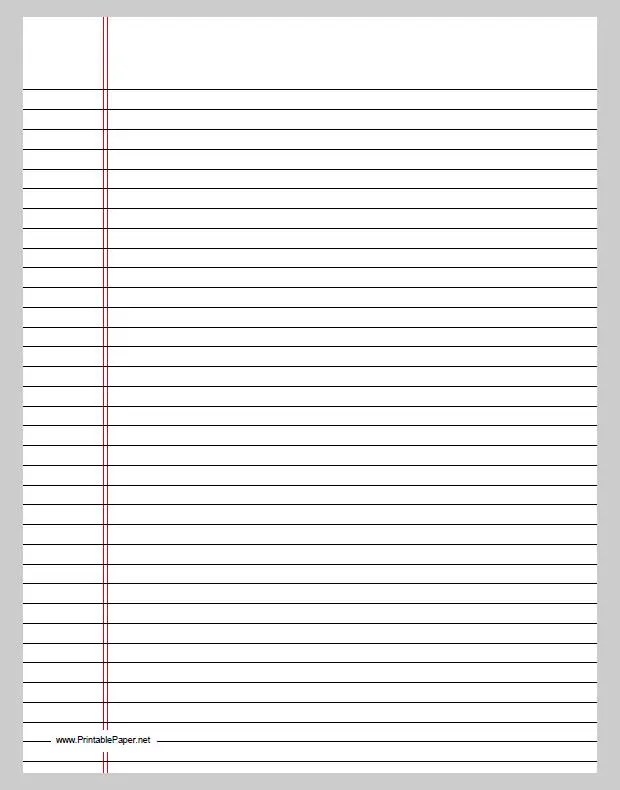 lined notebook paper template word - line paper template