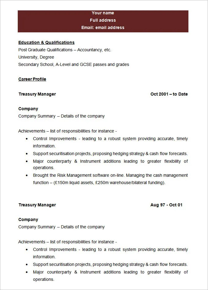 Sample Blank Resume Templates Free Information Forms Print A Part