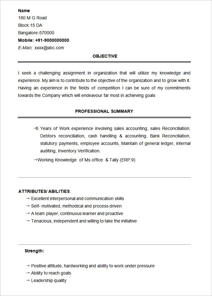 Resume For Bcom Students Printable Blank Resume Templates In Word For Students Or Student Resume Template 21 Free Samples Examples