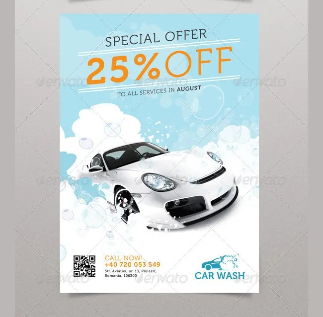 Car Wash Flyer Template Gallery - Template Design Free Download - car wash flyer template