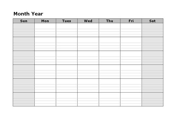 Monthly Calendar Template Word 2012   Sample Customer Service Resume