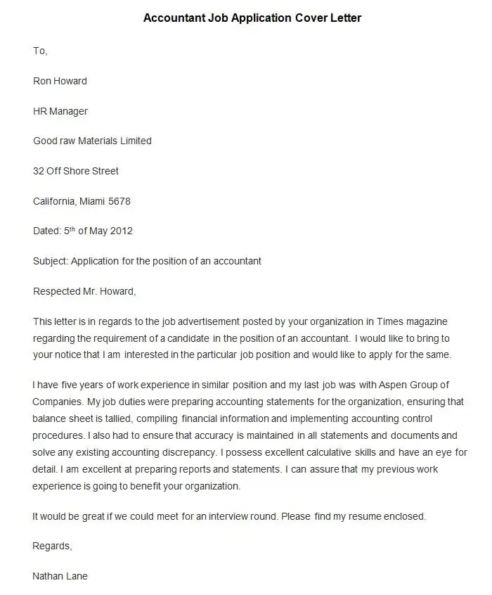 trainee accountant cover letters