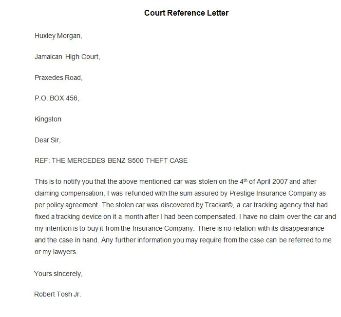 Business Customer Reference Letter Sample – Customer Reference Template