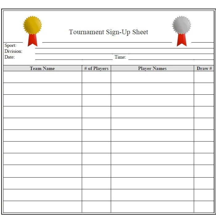 team sheet template - Alannoscrapleftbehind