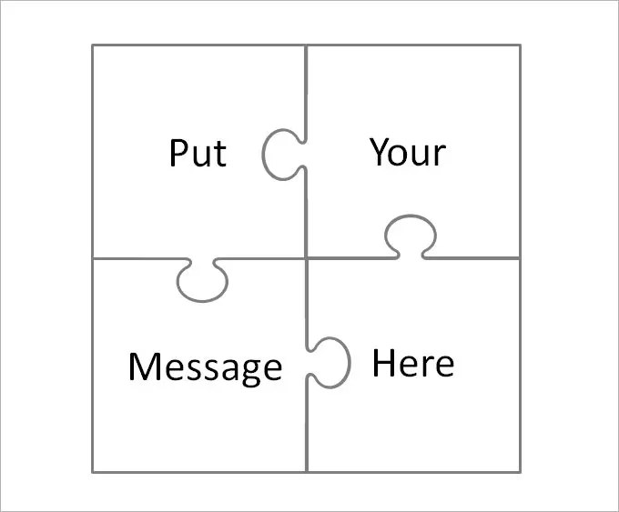 large puzzle pieces template - puzzle pieces template
