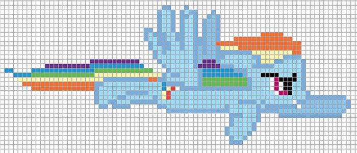 Minecraft Pixel Art Templates Rainbow Dash - lektoninfo - minecraft pixel art template
