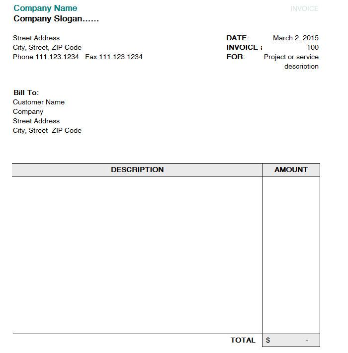 blank uk invoice template | sample customer service resume, Invoice templates