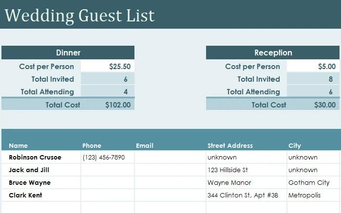 wedding checklist for excel download wedding checklist template free excel documents download free wedding guest list