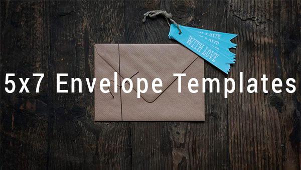 5x7 envelope templates