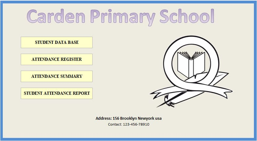 Monthly School Attendance Register and Report Template Template124 - attendance report template