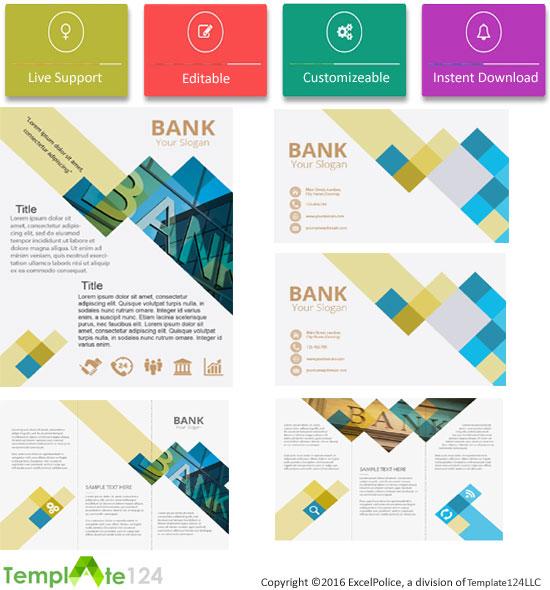 Customize Finance Bank Company Profile Template Template124