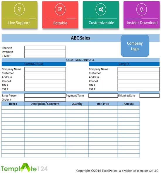 7+ Best Credit Note Template Excel  Word-PDF Template124