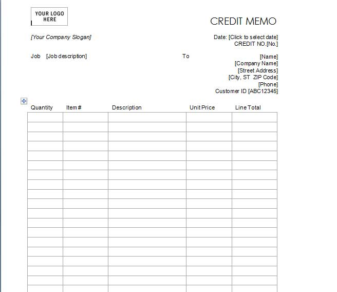 7+ Best Credit Note Template Excel \ Word PDF Template124 Debit Memo .