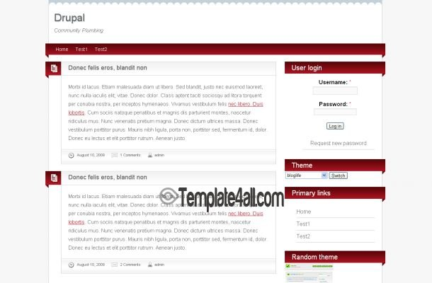 Red White Business Drupal Theme Template