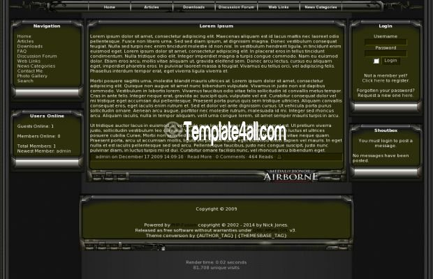 Free Phpfusion Themes Templates - php templates
